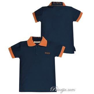 EMC Jongens Blauwe Polo Shirt