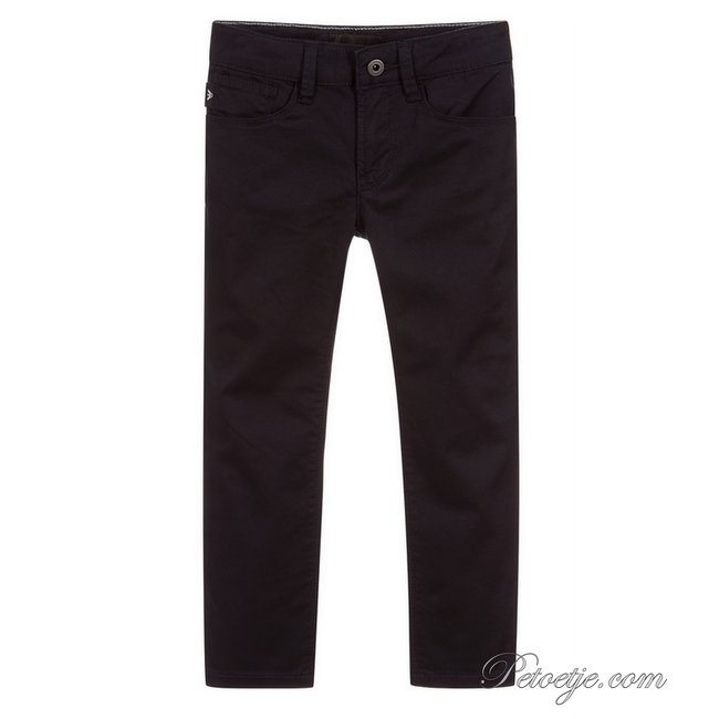 EMPORIO ARMANI Navy Blue Cotton Jeans