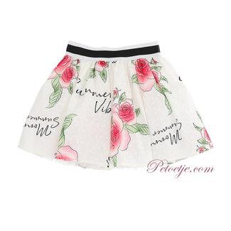 MONNALISA Girls White Roses Skirt