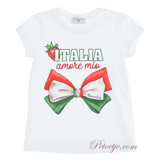 MONNALISA Girls White T-Shirt - Italia