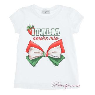 MONNALISA Meisjes Witte T-Shirt - Italia