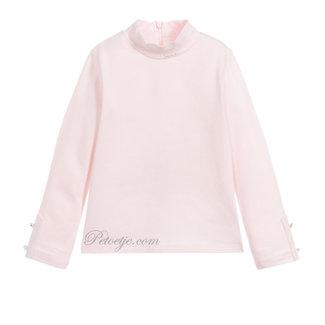 LAPIN HOUSE Pink Jersey Turtleneck Top