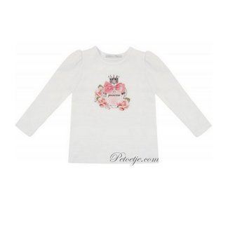 BALLOON CHIC Meisjes Witte Top - Princess