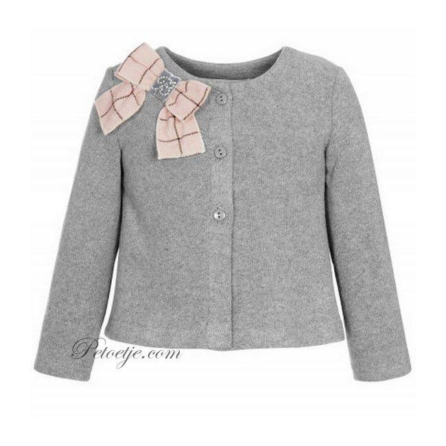 BALLOON CHIC Girls Grey Knitted Cardigan