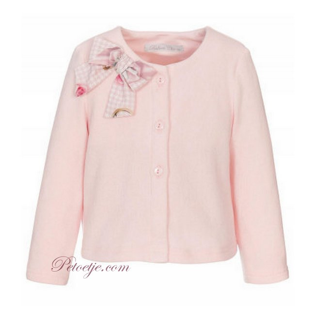 BALLOON CHIC Girls Pink Knitted Cardigan