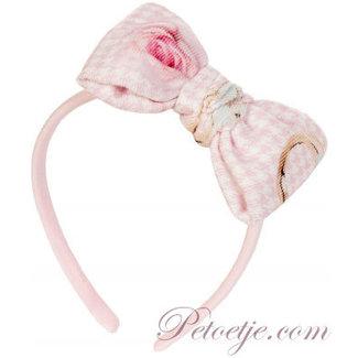 BALLOON CHIC Roze Pied De Poule Haarband