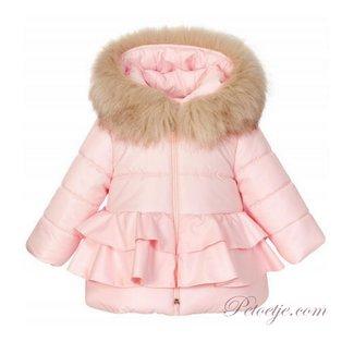 BALLOON CHIC Meisjes Roze Gevoerde Jas