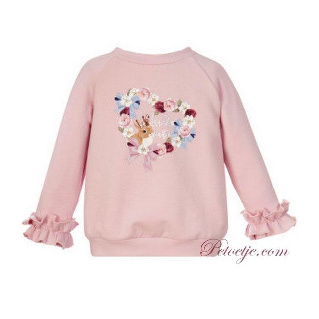 BALLOON CHIC Pink Sweater Top - Fox