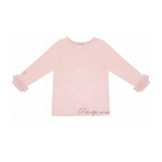 BALLOON CHIC Girls Pink Cotton T-Shirt - Basic