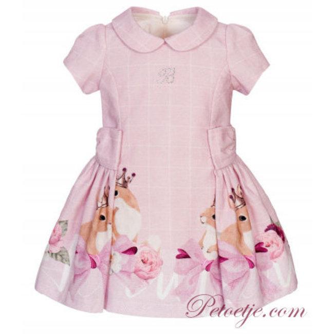BALLOON CHIC Girls Pink Check Dress - Fox