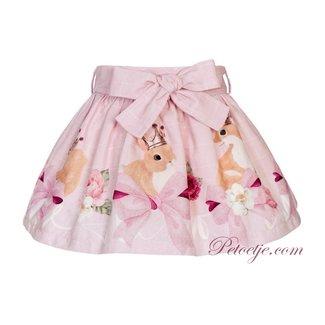 BALLOON CHIC Meisjes Roze Geruite Rok