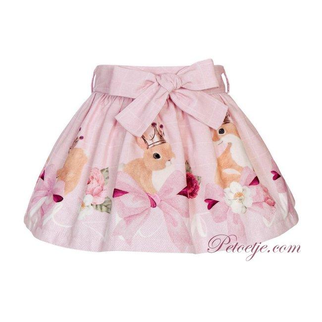 BALLOON CHIC Girls Pink Check Skirt - Fox