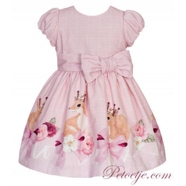 BALLOON CHIC Girls Pink Dress Bow