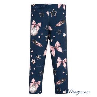BALLOON CHIC Meisjes Blauwe Legging - Star