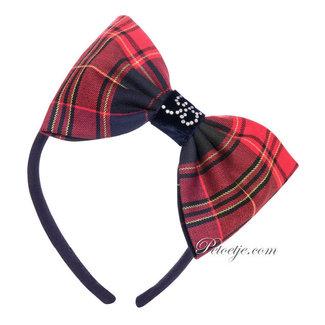 BALLOON CHIC Blauw & Rode Haarband Strik