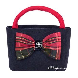 BALLOON CHIC Blue & Red Handbag (20cm)