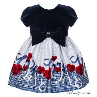 BALLOON CHIC Girls Blue Dress  - Chic
