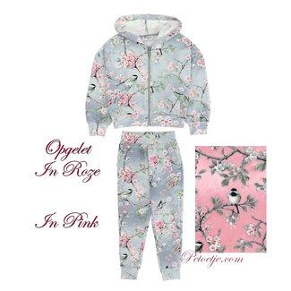 MONNALISA Girls Pink Floral Tracksuit