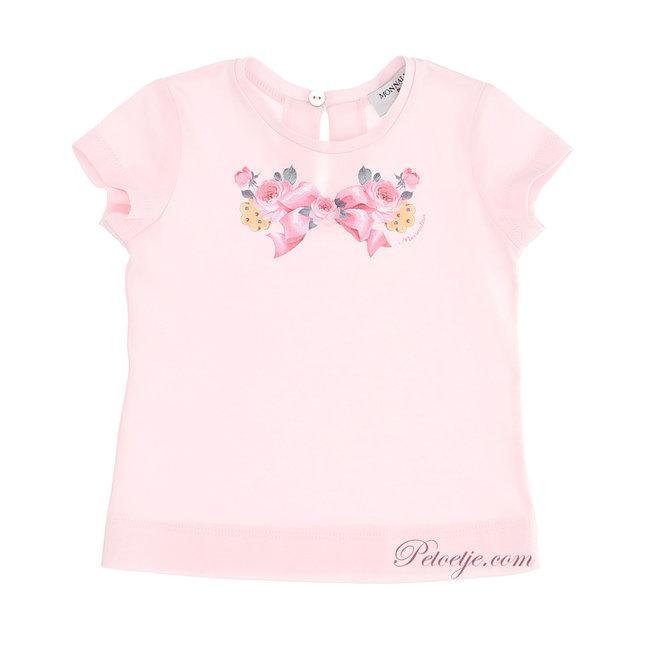 MONNALISA Baby Girls Pink T-Shirt