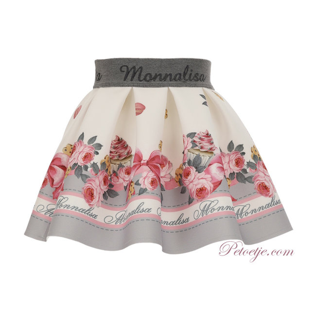 MONNALISA Baby Girls Floral Skirt