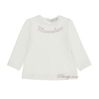 MONNALISA Baby Meisjes Ecru Logo Top