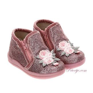 MONNALISA Baby Girls Pink Glitter Shoes
