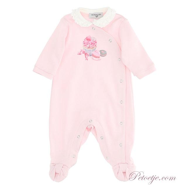 MONNALISA Girls Pink Babysuit - Cupcake