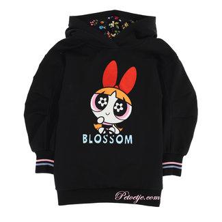 MONNALISA Zwarte Powerpuff Girls Sweaterjurk