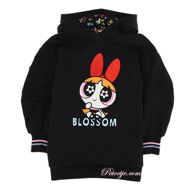 MONNALISA Black Powerpuff Girls Sweater Dress