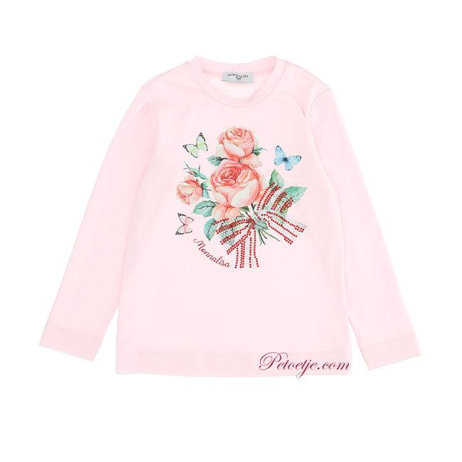 MONNALISA Meisjes Roze Bloemen T-shirt