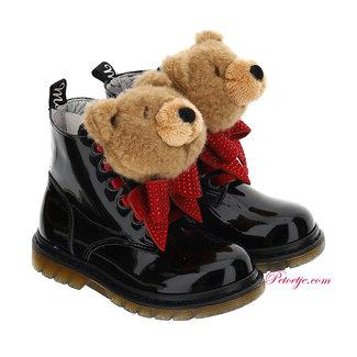 MONNALISA Girls Black Teddy Boots