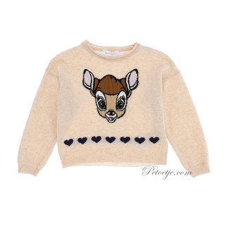 MONNALISA Meisjes Beige Wolmix Bambi Trui
