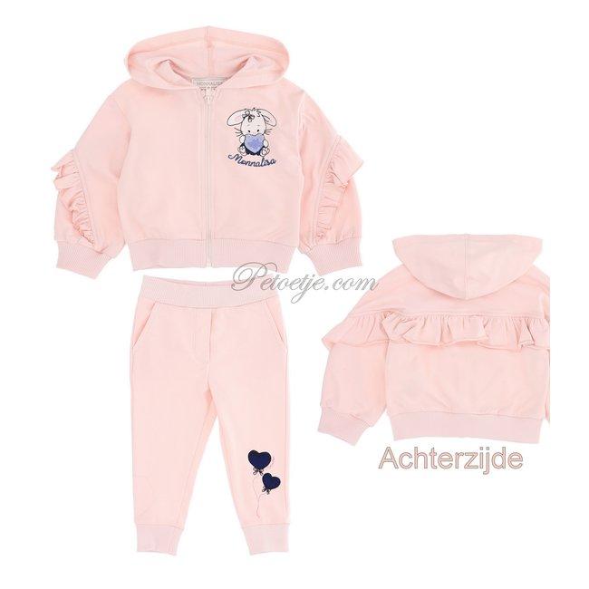 MONNALISA Baby Girls Pink Tracksuit