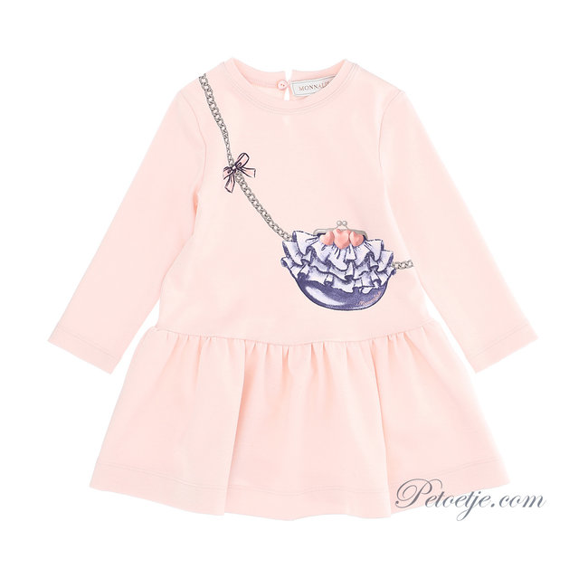 MONNALISA Baby Girls Pink Jersey Dress