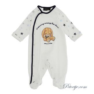 MONNALISA Jongens Ecru & Blauw Baby Pakje