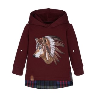 LAPIN HOUSE Boys Brown Hooded Sweater