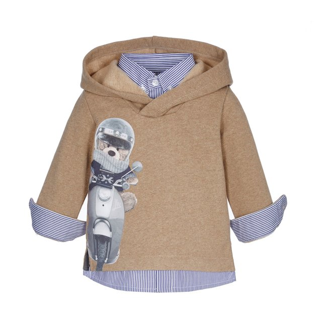 LAPIN HOUSE Boys Beige Hooded Sweater
