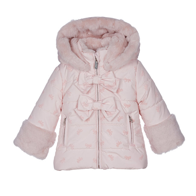 LAPIN HOUSE Girls Pink Padded Coat - Bows