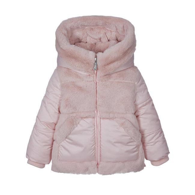 LAPIN HOUSE Girls Pink Padded Faux Fur Coat