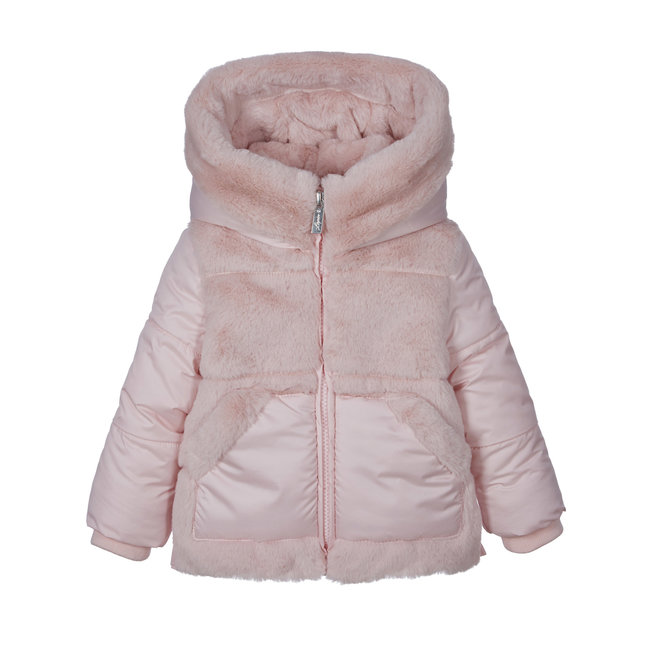 LAPIN HOUSE Pink Padded Faux Fur Coat
