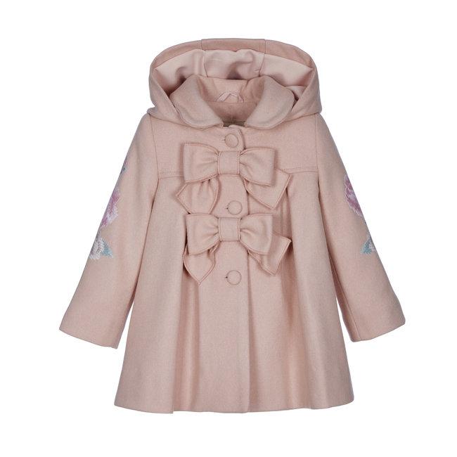 LAPIN HOUSE Girls Pink Wool Blend Coat
