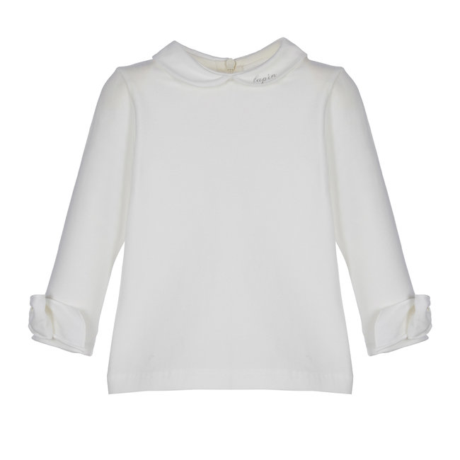 LAPIN HOUSE Ivory Top - Collar & Bow