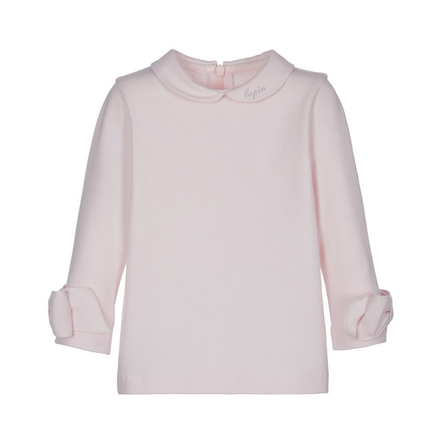 LAPIN HOUSE Pink Top - Collar & Bow