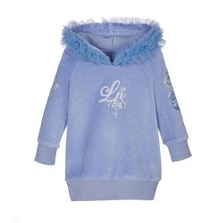 LAPIN HOUSE Blauwe Velours Sweaterjurk