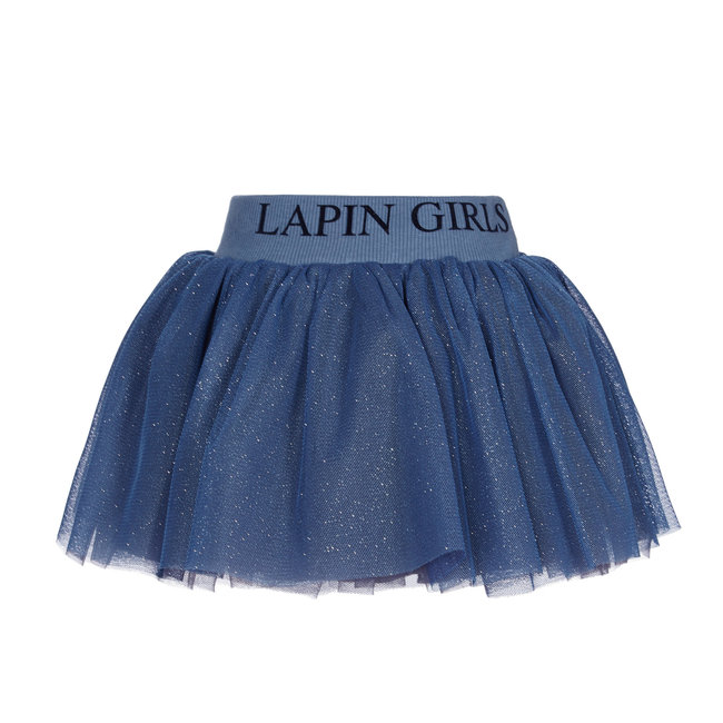 LAPIN HOUSE Blue Glitter Tulle Skirt