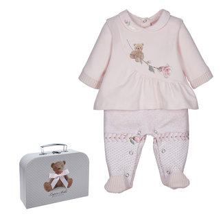 LAPIN HOUSE Pink Babysuit - Hat Gift Set