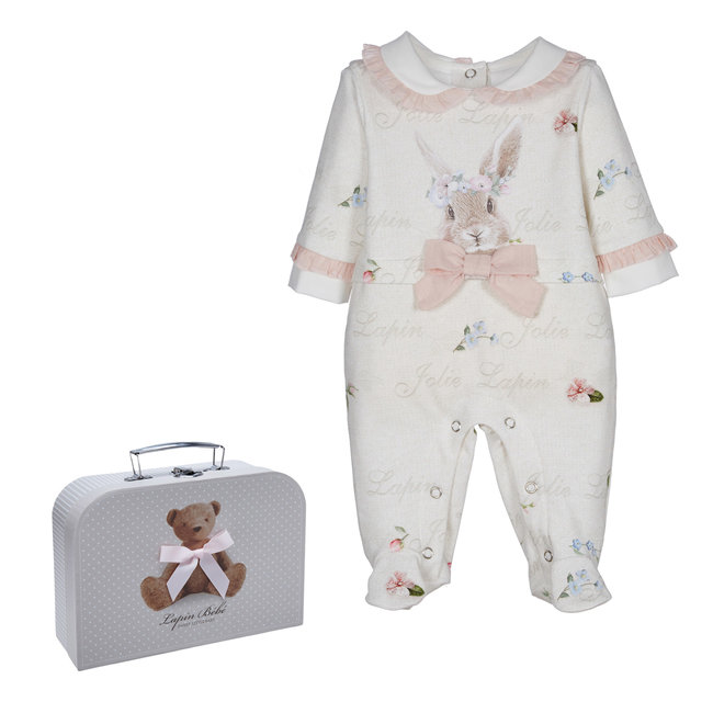 LAPIN HOUSE Beige Baby Pakje - Muts Gift Set