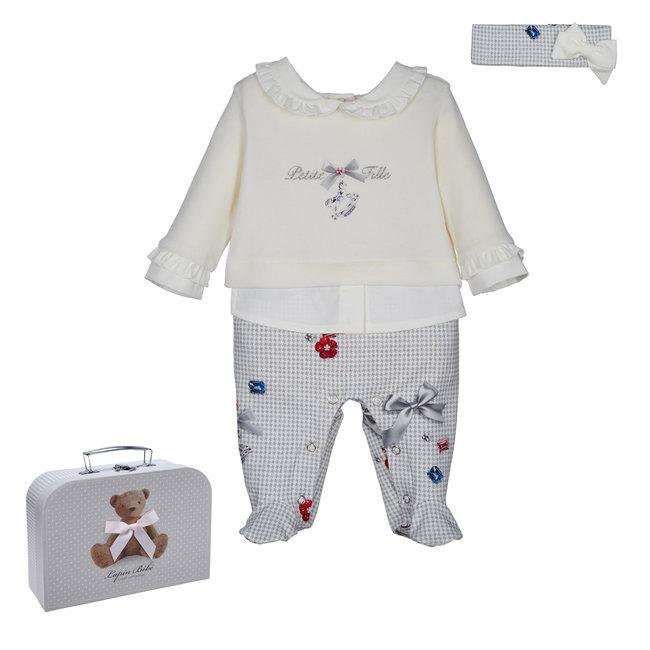 LAPIN HOUSE Ecru & Grijs Baby Pakje - Hoofdband