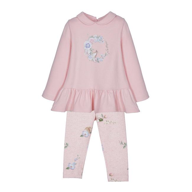 LAPIN HOUSE Meisjes Roze Tuniek & Legging Set