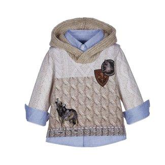 LAPIN HOUSE Boys Beige Sweater
